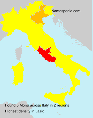 Surname Morgi in Italy