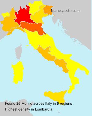 Surname Morillo in Italy