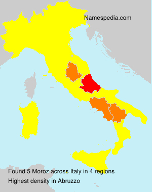Surname Moroz in Italy