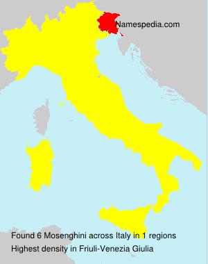 Familiennamen Mosenghini - Italy