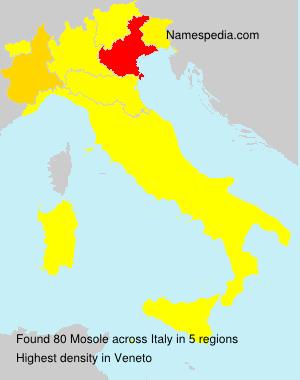 Familiennamen Mosole - Italy