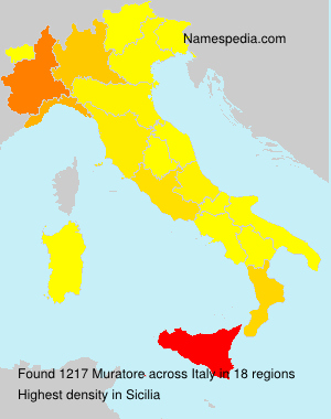 Surname Muratore in Italy