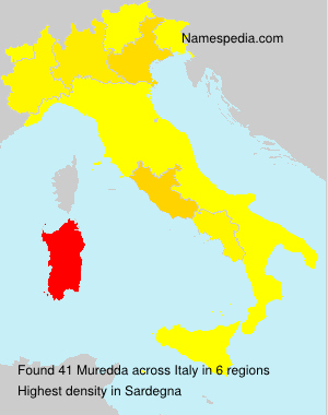 Surname Muredda in Italy
