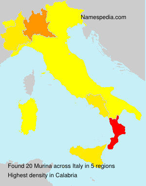 Surname Murina in Italy