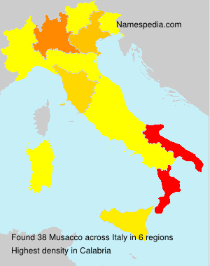 Surname Musacco in Italy
