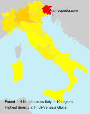 Familiennamen Nadin - Italy