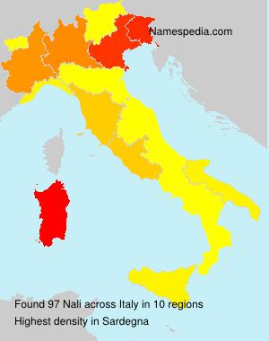 Surname Nali in Italy