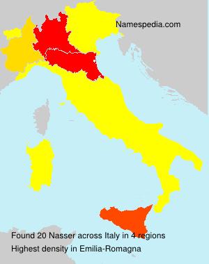 Familiennamen Nasser - Italy