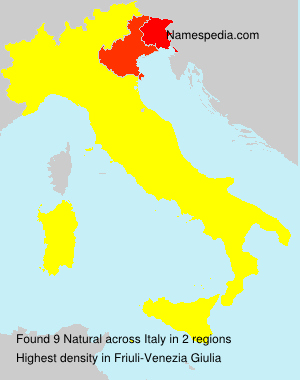 Surname Natural in Italy