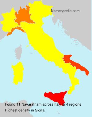Surname Navaratnam in Italy