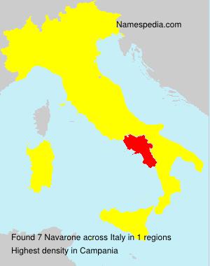 Surname Navarone in Italy