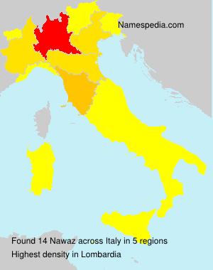 Surname Nawaz in Italy