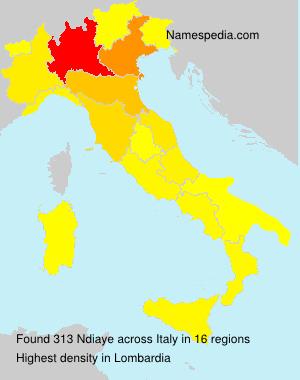 Familiennamen Ndiaye - Italy