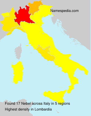 Surname Nebel in Italy
