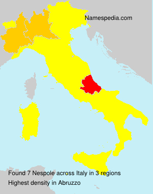 Surname Nespole in Italy