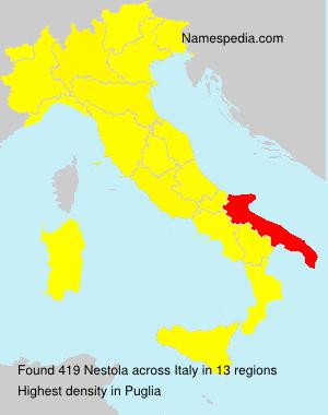 Surname Nestola in Italy