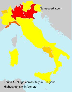 Familiennamen Niego - Italy