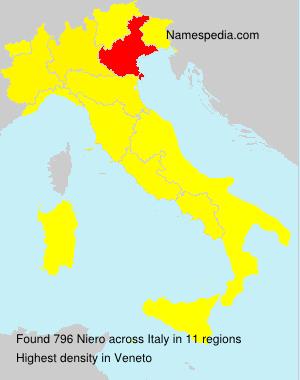 Surname Niero in Italy