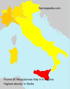 Familiennamen Nitopi - Italy