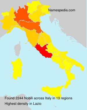 Surname Nobili in Italy