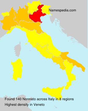 Surname Nonnato in Italy