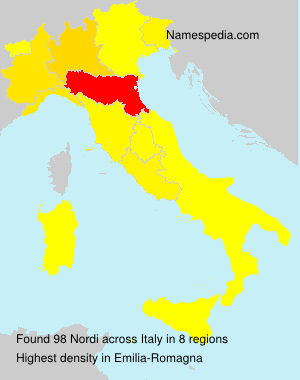 Surname Nordi in Italy