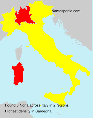 Surname Noria in Italy