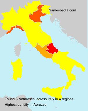 Surname Notareschi in Italy