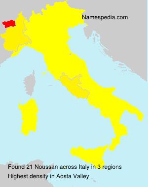 Surname Noussan in Italy