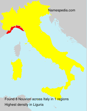 Surname Nouvion in Italy