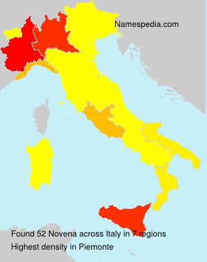 Surname Novena in Italy