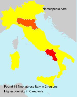 Surname Nubi in Italy