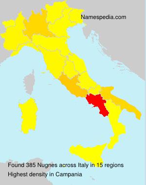 Surname Nugnes in Italy