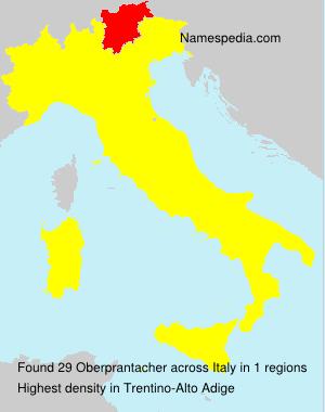Surname Oberprantacher in Italy