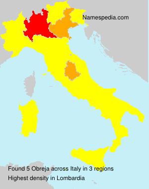 Familiennamen Obreja - Italy