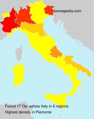 Familiennamen Ojo - Italy