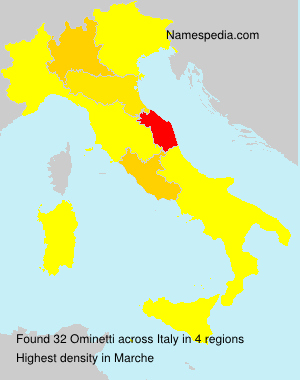 Surname Ominetti in Italy