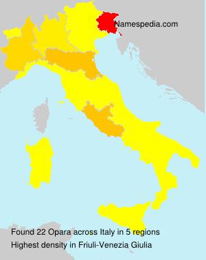 Familiennamen Opara - Italy
