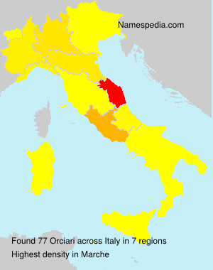 Surname Orciari in Italy
