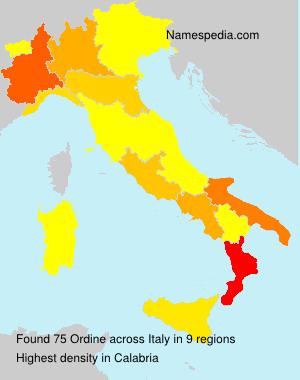 Surname Ordine in Italy