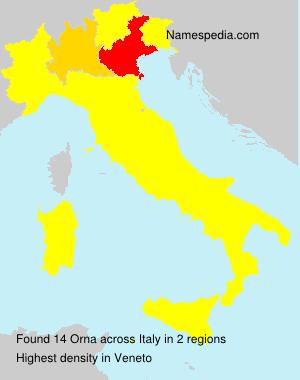 Surname Orna in Italy