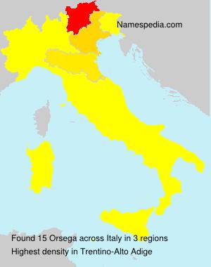Familiennamen Orsega - Italy