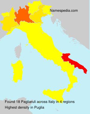 Surname Pagliaruli in Italy