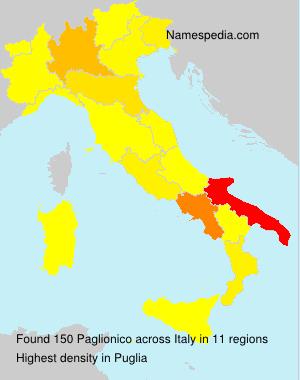 Familiennamen Paglionico - Italy