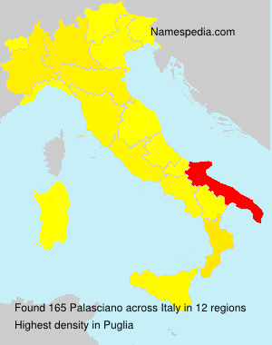 Surname Palasciano in Italy