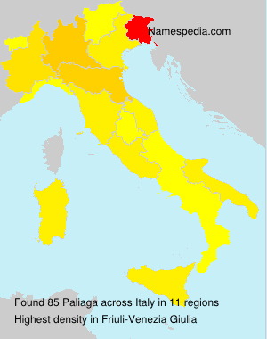 Surname Paliaga in Italy