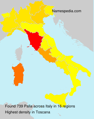 Surname Palla in Italy