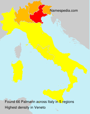 Surname Palmarin in Italy