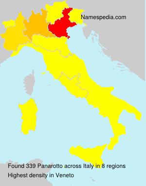 Familiennamen Panarotto - Italy