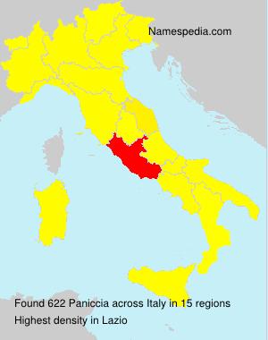 Surname Paniccia in Italy